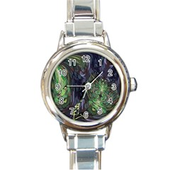Backdrop Background Abstract Round Italian Charm Watch