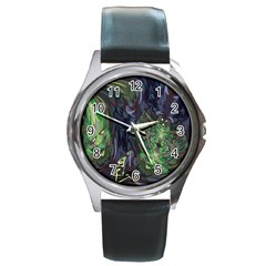 Backdrop Background Abstract Round Metal Watch