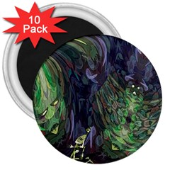 Backdrop Background Abstract 3  Magnets (10 Pack)
