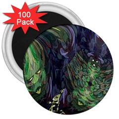 Backdrop Background Abstract 3  Magnets (100 Pack)