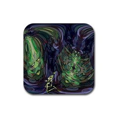 Backdrop Background Abstract Rubber Square Coaster (4 pack)
