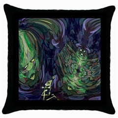 Backdrop Background Abstract Throw Pillow Case (black)