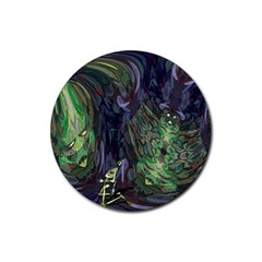 Backdrop Background Abstract Rubber Round Coaster (4 Pack)