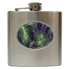 Backdrop Background Abstract Hip Flask (6 Oz)