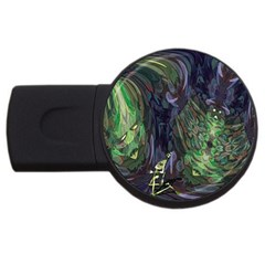 Backdrop Background Abstract Usb Flash Drive Round (2 Gb)