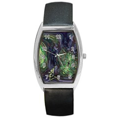 Backdrop Background Abstract Barrel Style Metal Watch