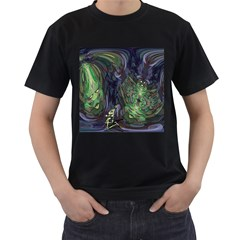 Backdrop Background Abstract Men s T Shirt (black) (two Sided)