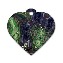 Backdrop Background Abstract Dog Tag Heart (Two Sides)