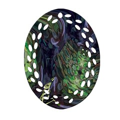 Backdrop Background Abstract Oval Filigree Ornament (two Sides)