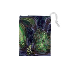 Backdrop Background Abstract Drawstring Pouches (small)