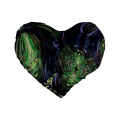 Backdrop Background Abstract Standard 16  Premium Flano Heart Shape Cushions