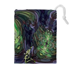 Backdrop Background Abstract Drawstring Pouches (Extra Large)