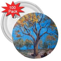 Turkeys 3  Buttons (100 pack)