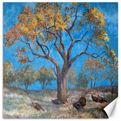 Turkeys Canvas 20  X 20