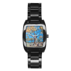Turkeys Stainless Steel Barrel Watch