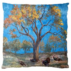 Turkeys Standard Flano Cushion Case (One Side)