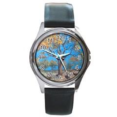 Turkeys Round Metal Watch