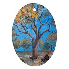Turkeys Ornament (Oval)