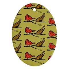 Bird Birds Animal Nature Wild Wildlife Ornament (oval)
