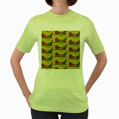 Bird Birds Animal Nature Wild Wildlife Women s Green T Shirt