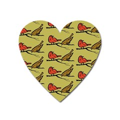 Bird Birds Animal Nature Wild Wildlife Heart Magnet