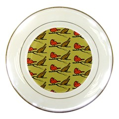 Bird Birds Animal Nature Wild Wildlife Porcelain Plates
