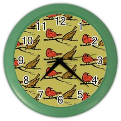 Bird Birds Animal Nature Wild Wildlife Color Wall Clocks