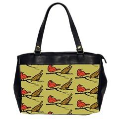Bird Birds Animal Nature Wild Wildlife Office Handbags (2 Sides)