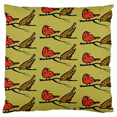 Bird Birds Animal Nature Wild Wildlife Large Flano Cushion Case (two Sides)