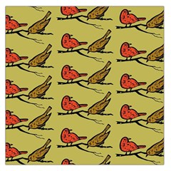 Bird Birds Animal Nature Wild Wildlife Large Satin Scarf (square)