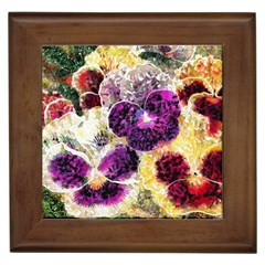 Background Flowers Framed Tiles
