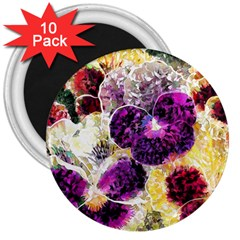 Background Flowers 3  Magnets (10 Pack)