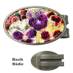 Background Flowers Money Clips (oval)