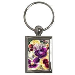 Background Flowers Key Chains (Rectangle)