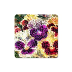 Background Flowers Square Magnet