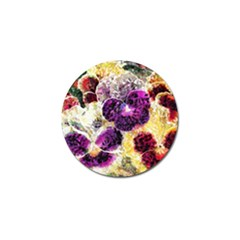 Background Flowers Golf Ball Marker (4 Pack)