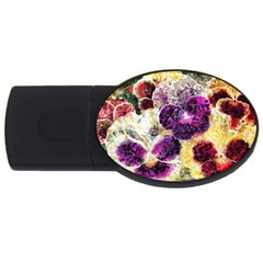 Background Flowers Usb Flash Drive Oval (2 Gb)