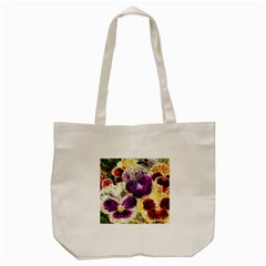 Background Flowers Tote Bag (cream)