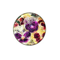 Background Flowers Hat Clip Ball Marker