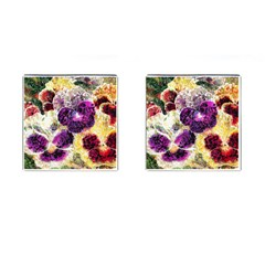 Background Flowers Cufflinks (square)