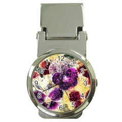 Background Flowers Money Clip Watches