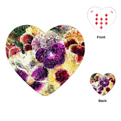 Background Flowers Playing Cards (heart)