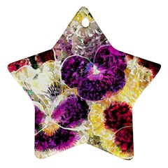 Background Flowers Star Ornament (two Sides)