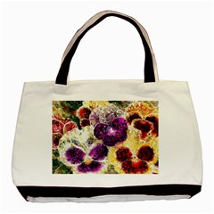 Background Flowers Basic Tote Bag (two Sides)
