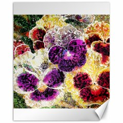 Background Flowers Canvas 11  X 14