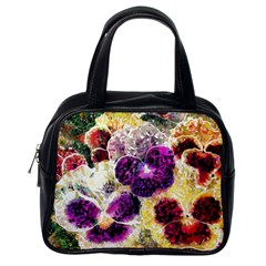 Background Flowers Classic Handbags (one Side)