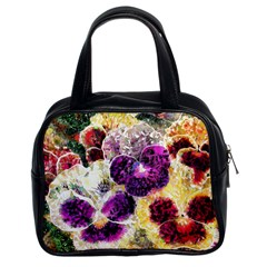 Background Flowers Classic Handbags (2 Sides)