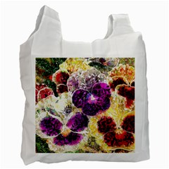 Background Flowers Recycle Bag (One Side)