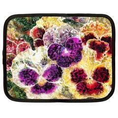 Background Flowers Netbook Case (xxl)