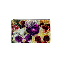 Background Flowers Cosmetic Bag (small)